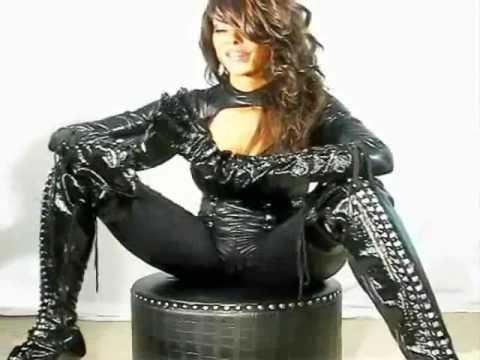Black Domina in Boots
