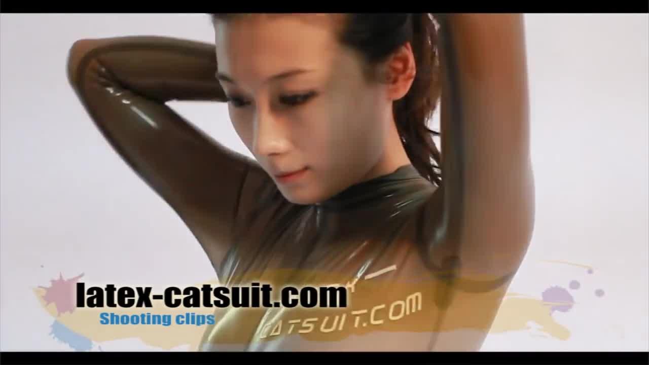 latex catsuit leotard rubber suit