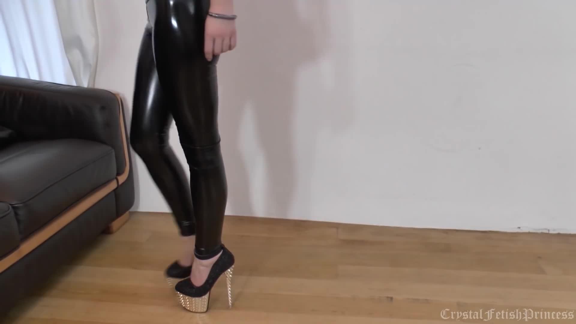 Sexy Slinky Latex Liquid Leggings Fetish