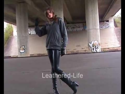 Monique - a sweet Lady in Wet Look Leggings
