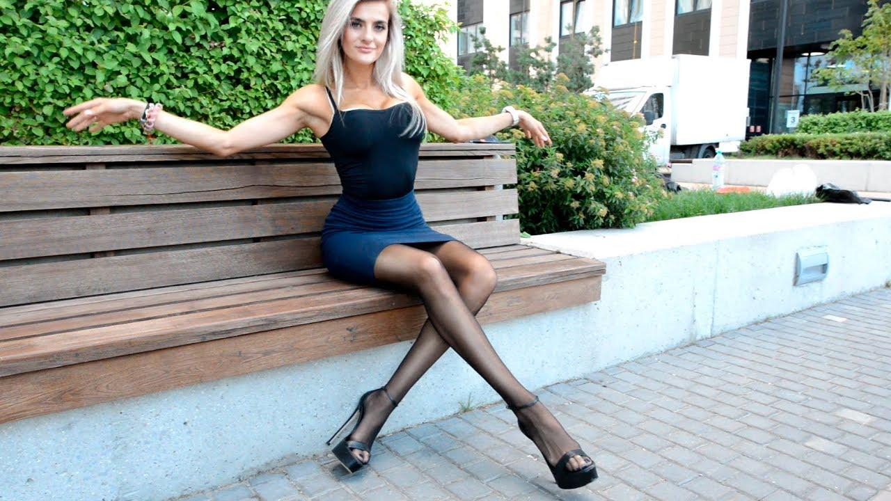 Long legs pantyhose Pencil skirt.   .