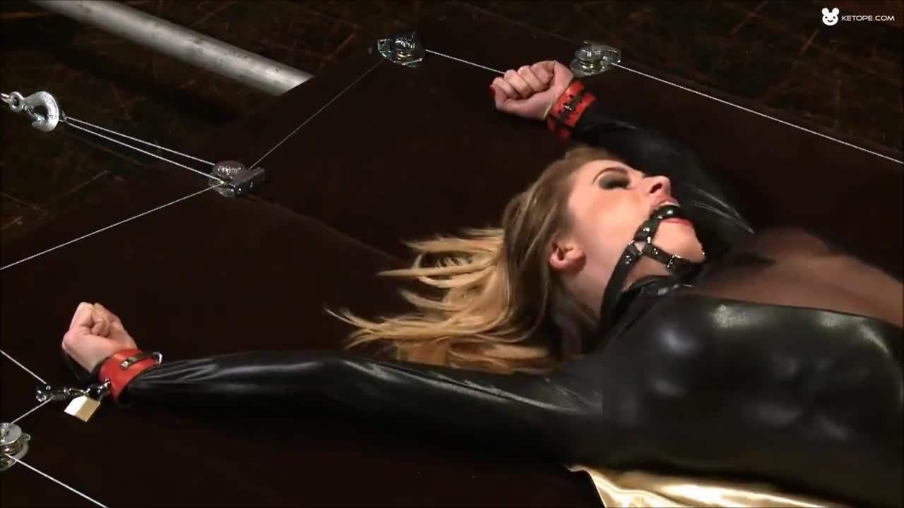 Female Slavegirl on a Bondage Rack waiting for her Slavemaster