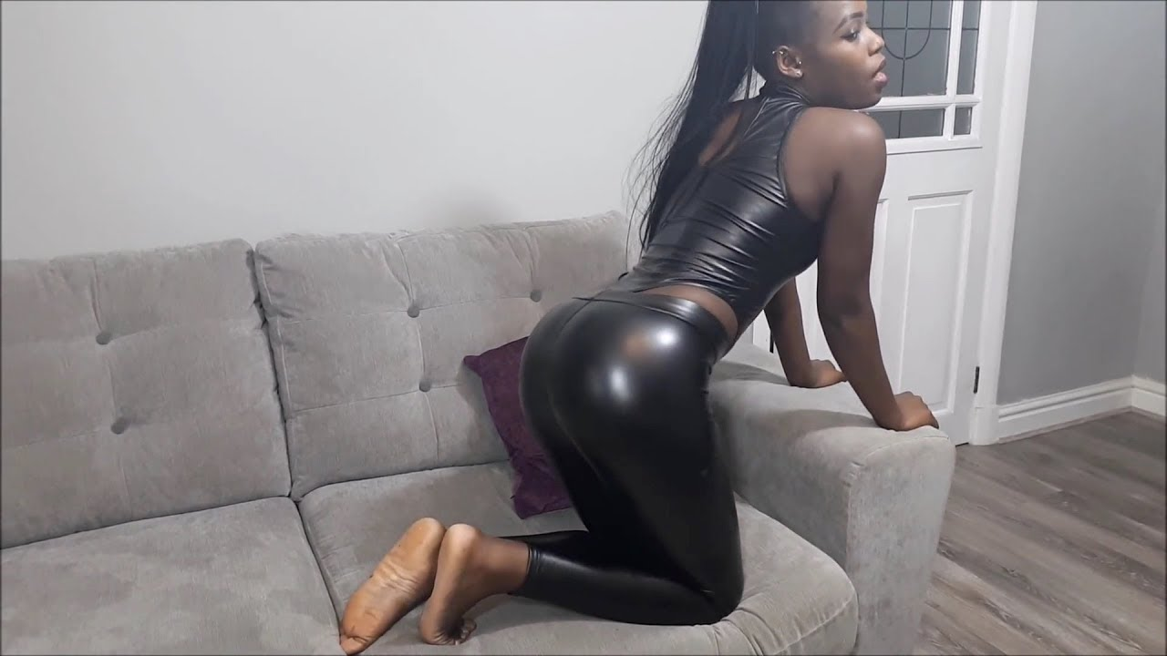 Leather Leggings & Wetlook Leotard - i_am_paige