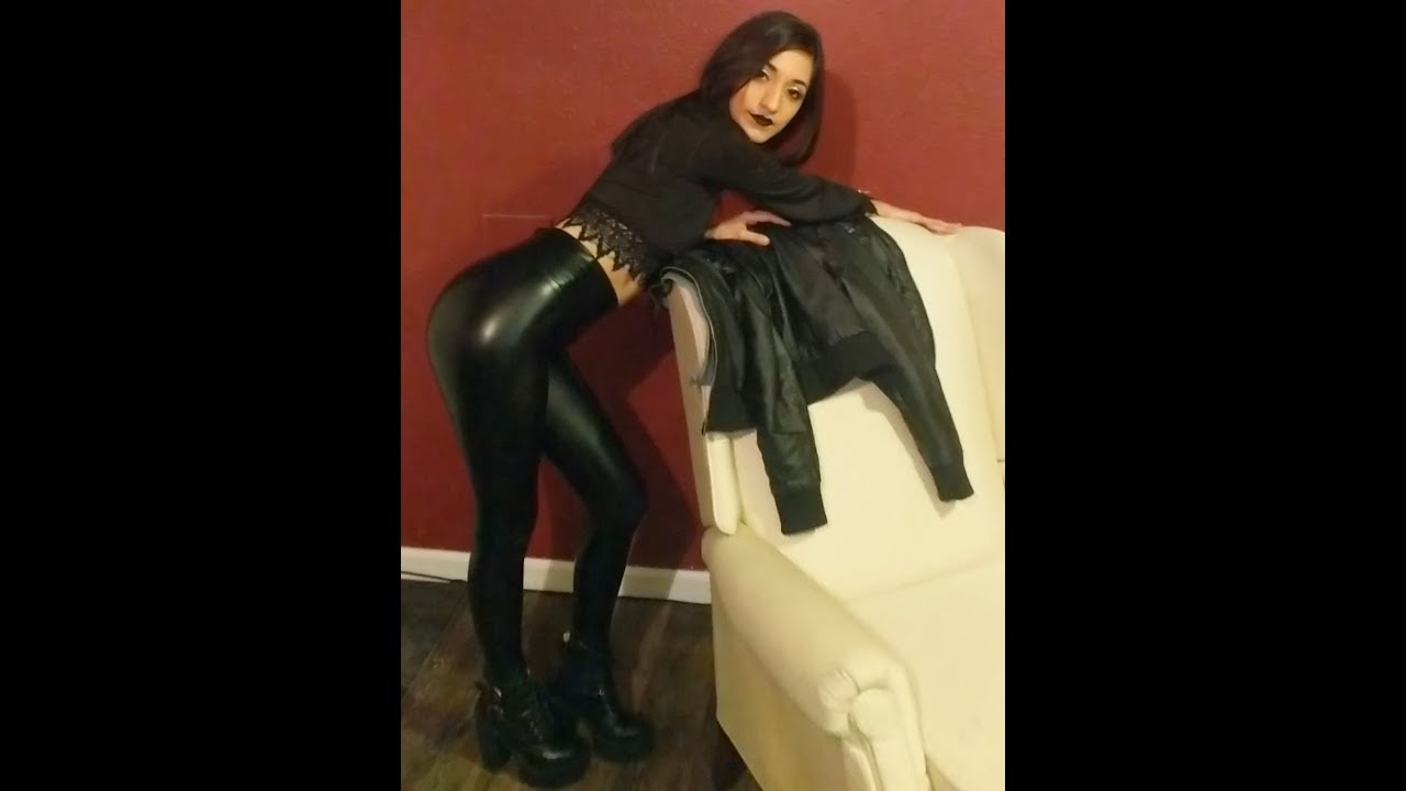 Leather Leggings & Leather Coat Outfit