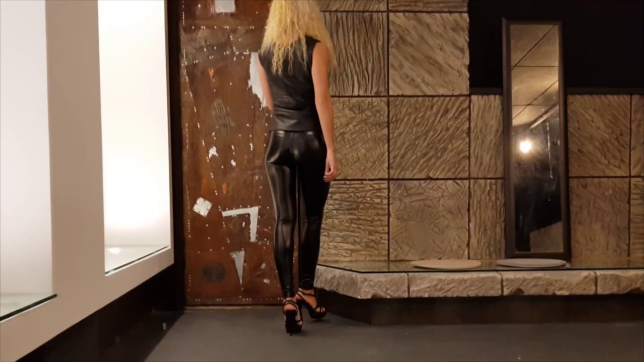 Vita in leather leggins and leather waistcoat